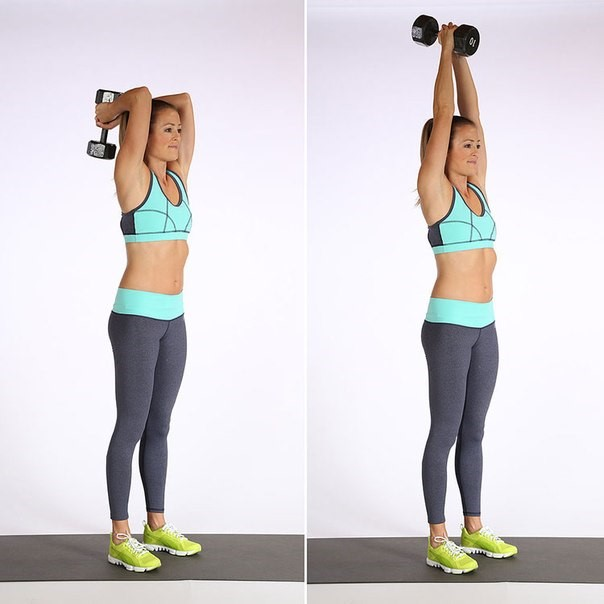 Упражнения для похудения рук и плеч - Французский жим