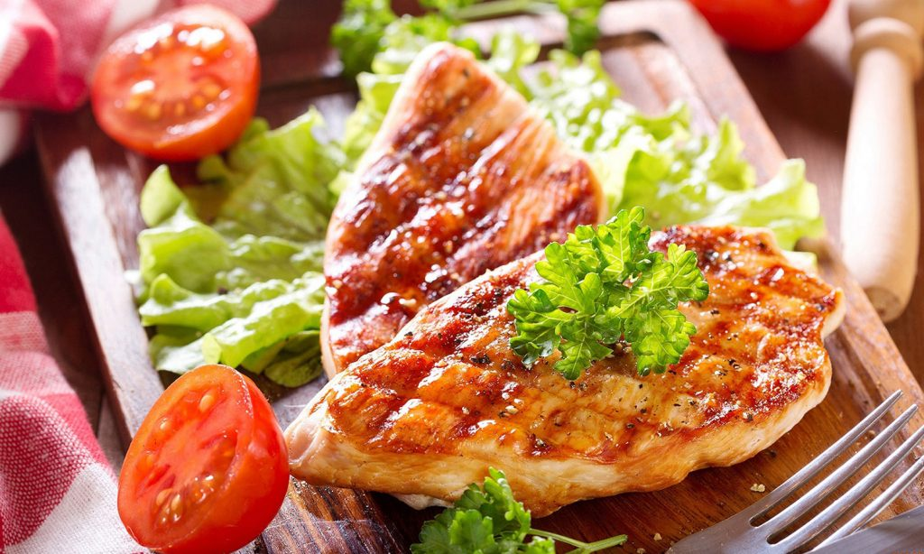 ПП питание: мясо с зеленью фото